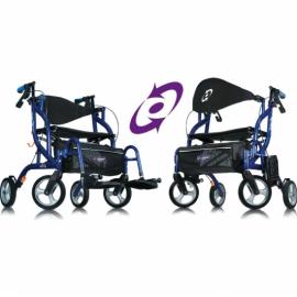 Airgo Fusion inklapbare rollator & transportrolstoel